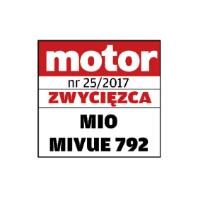 MiVue 792  1st place award in comparative test for DVRs in price range 40 to 190 EUR MOTOR magazine in Poland